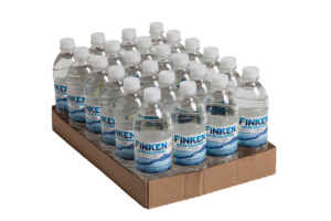 A case of Finken Bottled Water